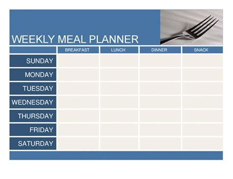 weekly menu template word planners and trackers office