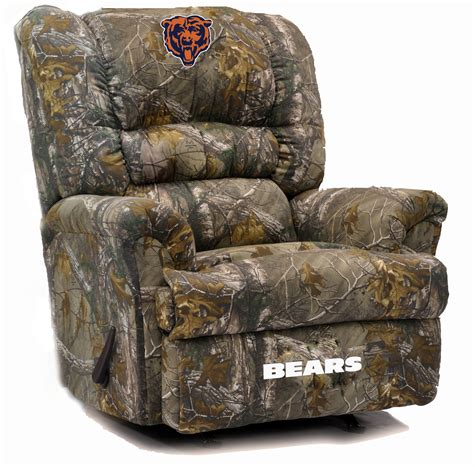 camo recliner chair chicago bears big daddy camo recliner