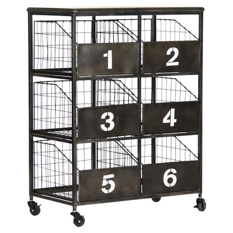 black metal storage cabinet neu industrial black metal numbered 6 drawer storage
