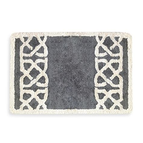 Colordrift Latice Grey 20 Inch X 30 Inch Bath Rug Grey Bathroom Rugs