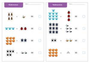 minibeast subtraction worksheets free early years