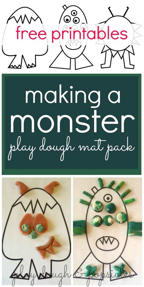 playdough mats booklet entire booklet printable make a monster play dough mat pack inspired by children s