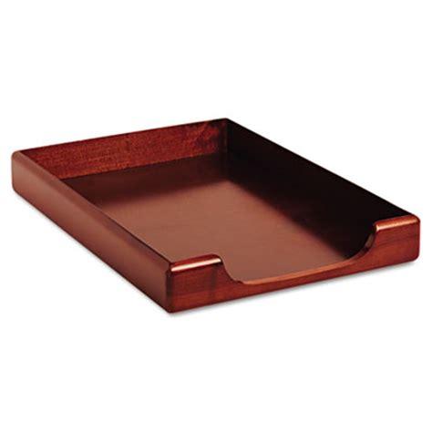Office Desk Trays Wood Tones Desk Tray Wood Mahogany