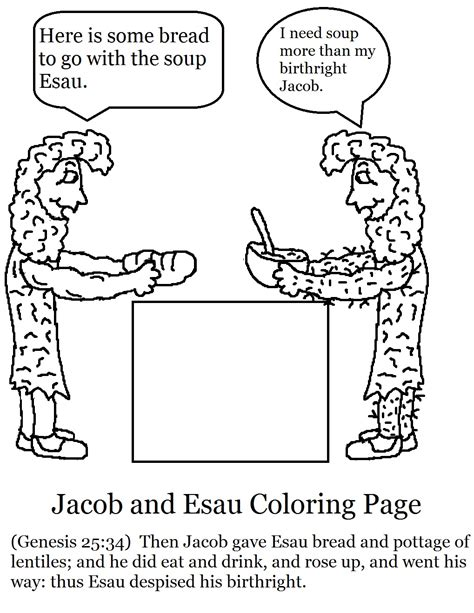 sunday school coloring pages jacob and esau church house collection blog jacob and esau sunday school