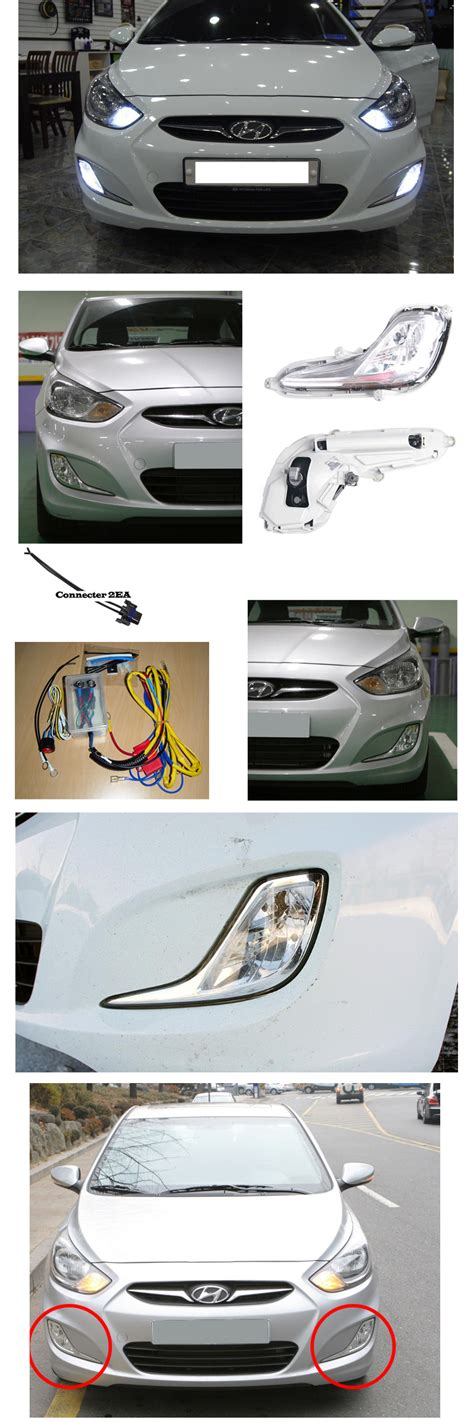 hyundai accent fog light install fog light l complete kit for 2011 2015 hyundai accent