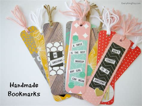 Handmade Bookmarks Ideas - diy handmade bookmarks tatertots and jello