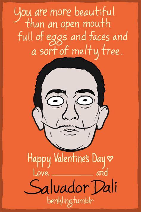 history valentines cards illustration painting salvador dali jokes history