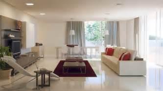Grey white red living room interior design ideas