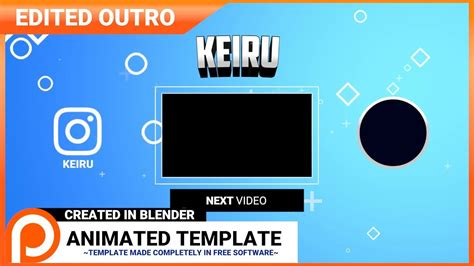 outro templates for blender blender 2d outro template edit patreon supporter