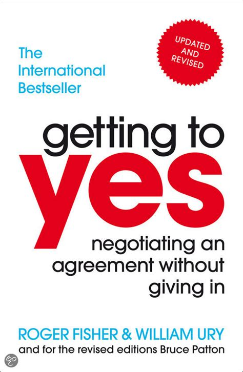 Getting To Yes bol getting to yes roger fisher william ury