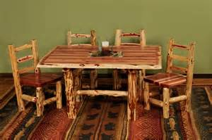 Log Dining Room Sets Aromatic Cedar Log Dining Set Juniper Tables Cedar Log Furniture