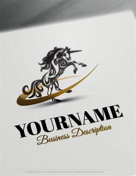 Design Free Logo Create Your Own Unicorn Online Logo Template Design Your Own Logo Template