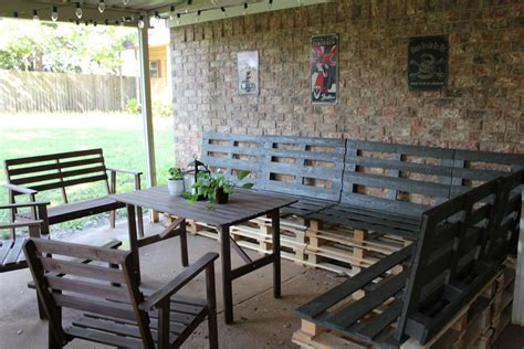 How To Make Pallet Patio Furniture Wooden Pallet Outdoor Furniture Ideas Recycled Things