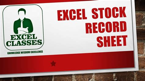 stock record template excel 2013 stock record sheet
