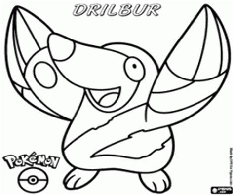 pokemon excadrill coloring pages drilbur the mole pok 233 mon evolves into excadrill moguryu