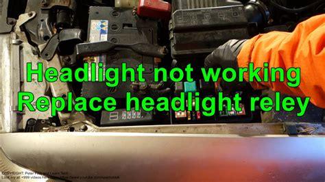 headlight   working replace headlight relay youtube