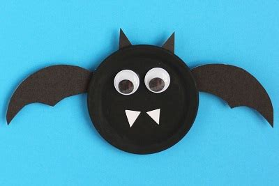 Paper Plate Bat Craft - paper plate bat craft ideas preschool crafts