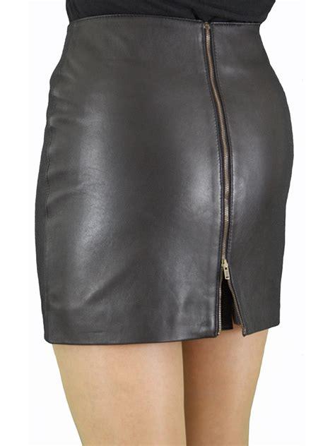 soft leather mini skirt with rear zip tout ensemble