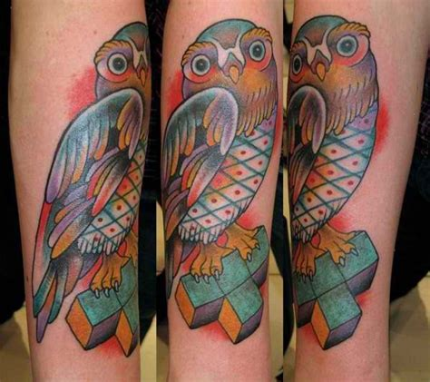 tetris inspired owl geek tattoo pinterest gamer