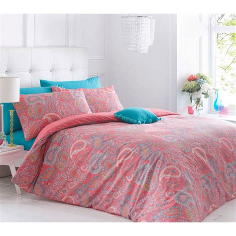 Paisley Double Duvet Set Bedding Duvet Covers B M Paisley Bedding Sets