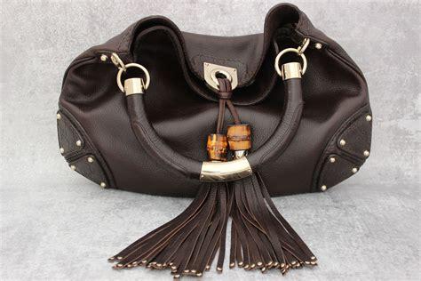 Longorias Gucci Indy Purse by Gucci Brown Leather Medium Indy Tassel Bag