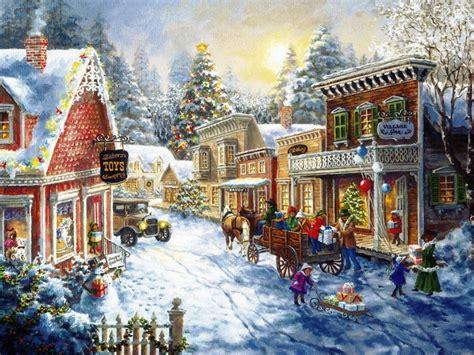 wallpaper christmas village christmas village wallpaper wallpapersafari