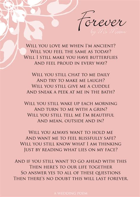 Wedding Vows Poetry by Forever Wedding Poem Ms Moem Poems Etc