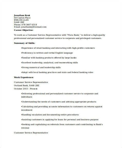 bank customer service representative resume sle sle customer service resumes 28 images cover letter