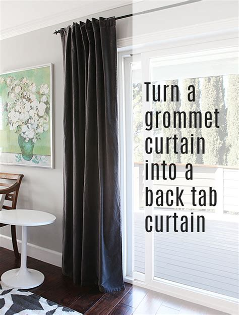 diy grommet curtains how to turn a grommet top curtain into a back tab curtain