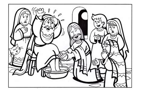 free printable coloring pages of jesus washing the disciples foot washing washing of the