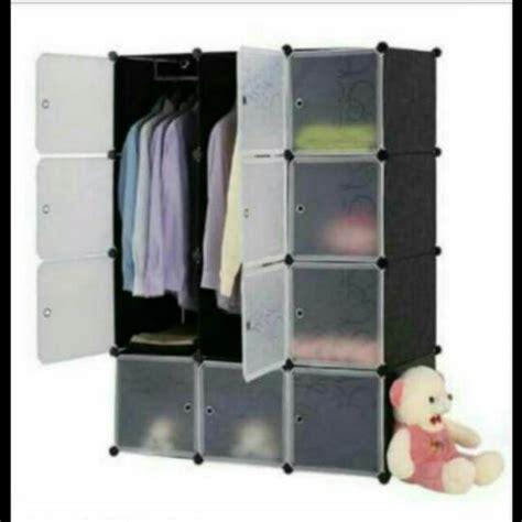 Lemari Rakit lemari pakaian rak baju lemari rakit kabinet rak