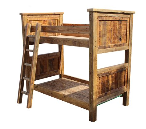 Barn Wood Bunk Bed Rustic Twin Over Twin Breck Bears Wood Bunk Beds