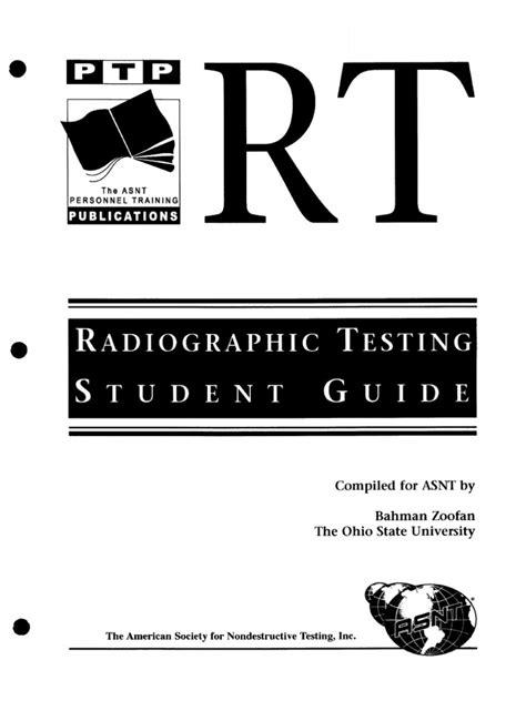 Radiographic testing level 3 pdf