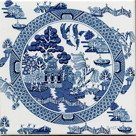 willow pattern artwork blue willow ware chinaware porcelain pottery tableware