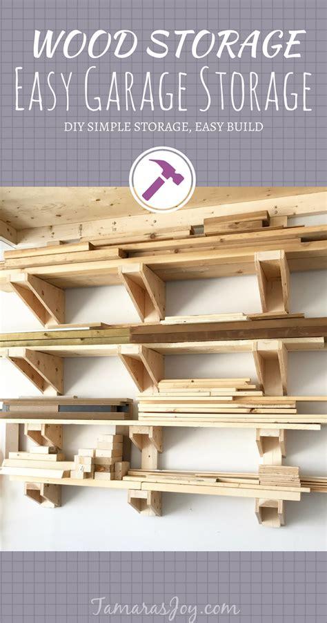 simple diy garage lumber rack    build
