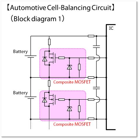 mosfets  automotive battery cell balancing industrial