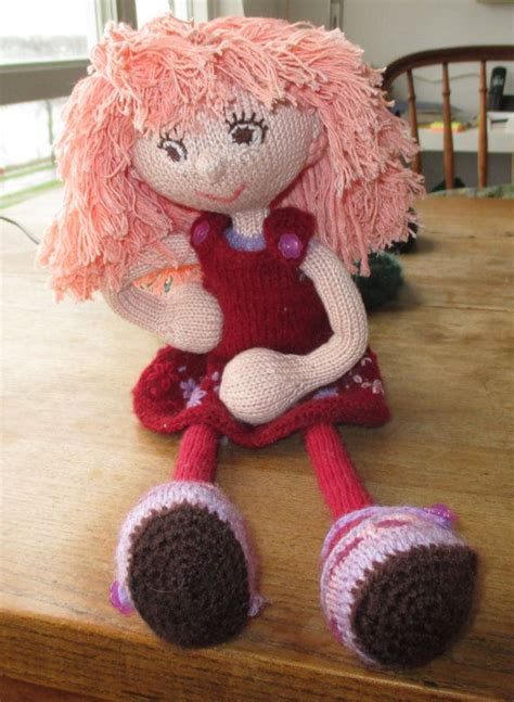 Handmade Knitted Dolls - dress up doll knitted knitted rag doll handmade doll