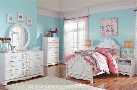 ashley girls bedroom furniture korabella white youth panel bedroom set from ashley b355
