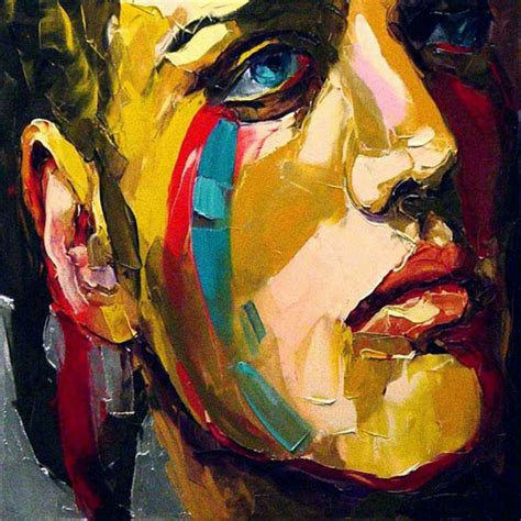 unique painting popular abstract face paintings buy cheap abstract face