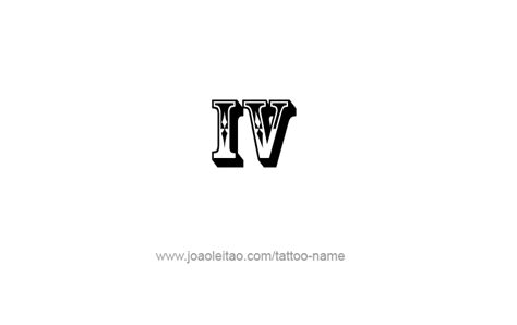 roman numeral 4 tattoo designs iv numeral designs tattoos with names