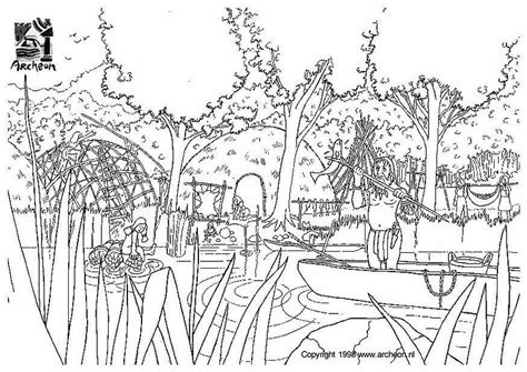 hutte préhistoire coloriage pr 233 histoire img 3201