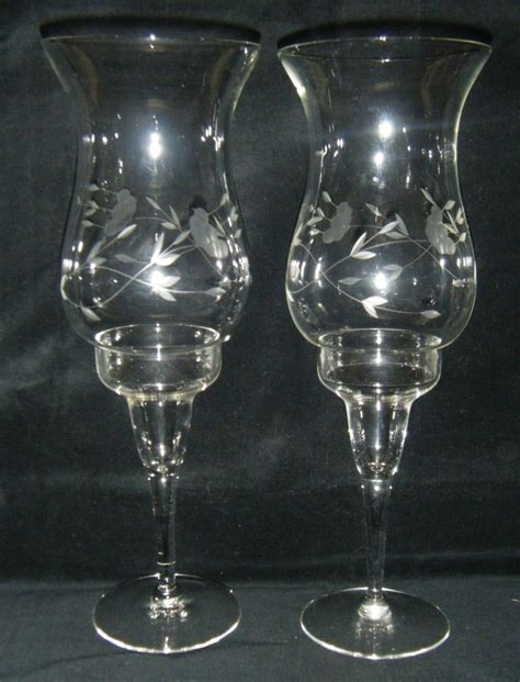 princess house crystal princess house crystal heritage hurricane candlesticks