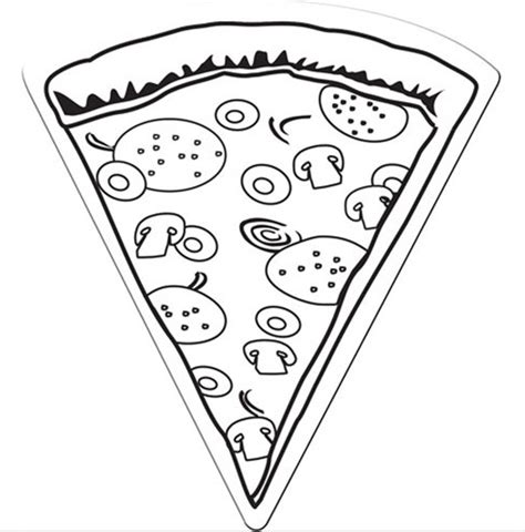 pizza coloring page coloring book