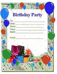 birthday invite template 50 free birthday invitation templates you will