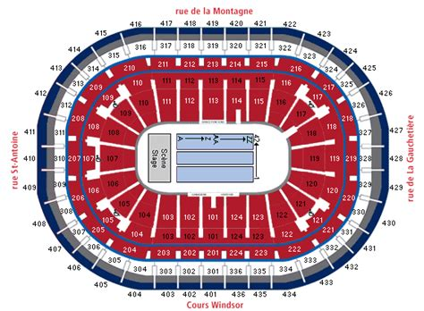 bell centre floor plan bell centre montreal qc seating chart view
