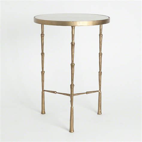 marble accent tables global views products spike accent table with white marble
