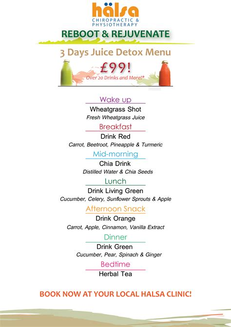 3 Day Detox Diet Menu Uk by S Juice Detox Vlogs Halsa