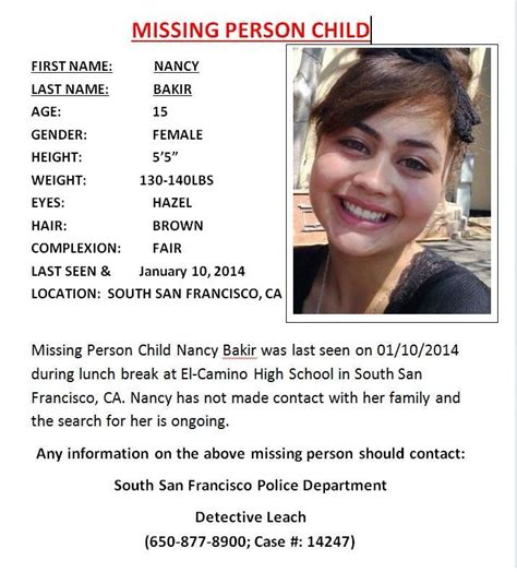 missing el camino high school student everything south city