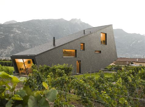 Mountain Home Design In Switzerland Mimics The Mountains Design A Mountain House
