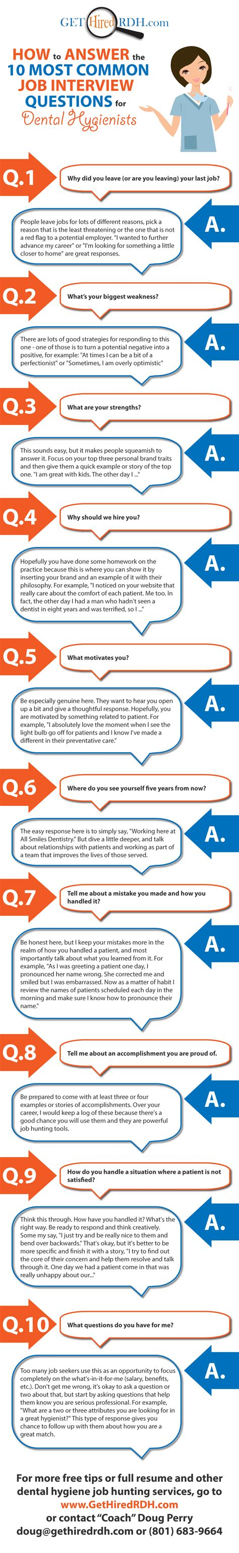 how to answer the 10 most common questions for dental hygienists get more at